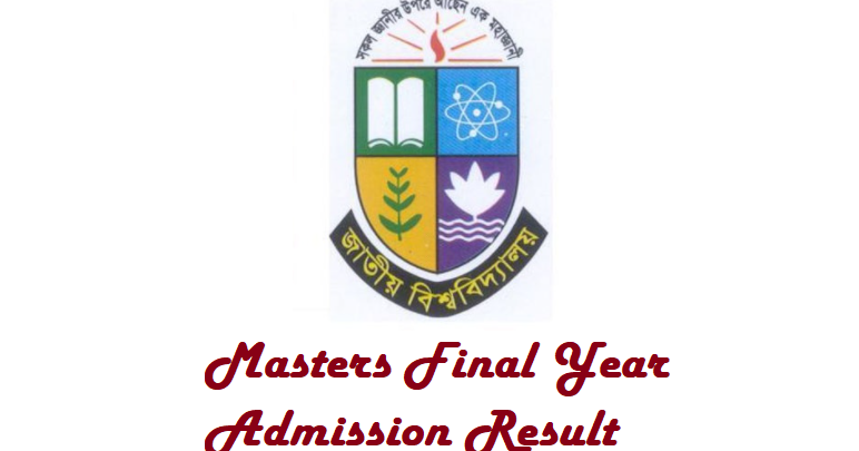 Masters Final Year Admission Result