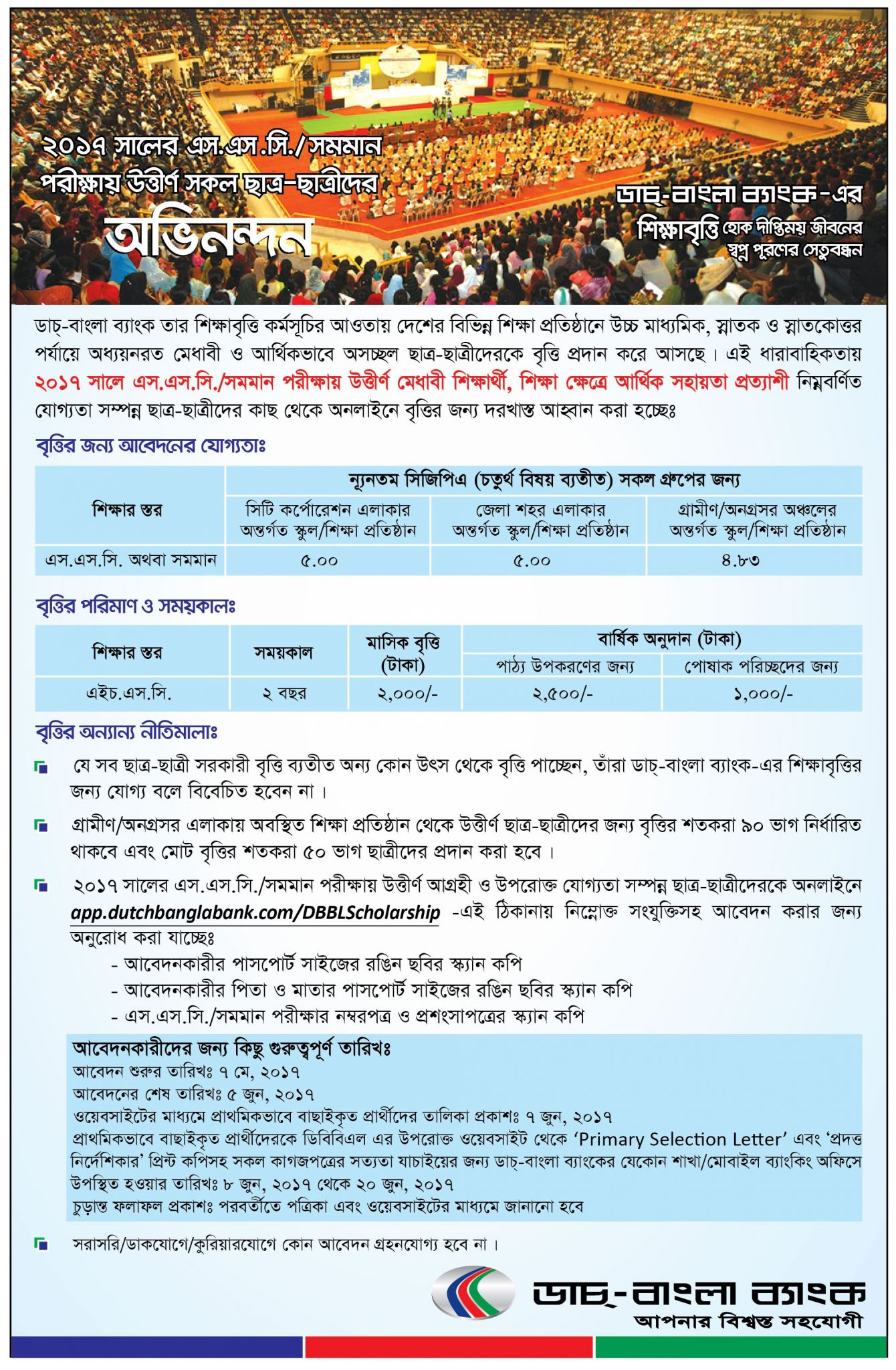 Dutch Bangla Bank SSC Scholarship