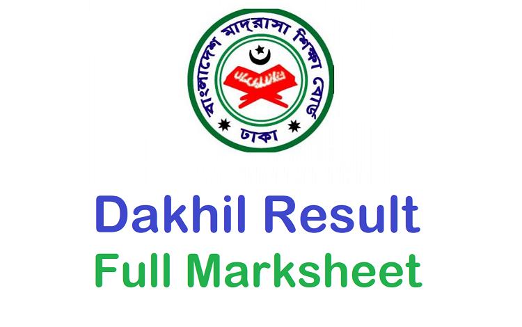 Dakhil Result Full Marksheet