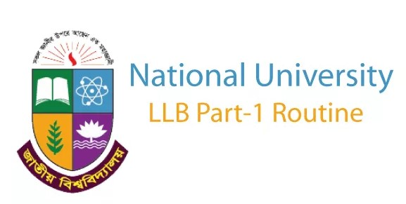National University LLB 1st Year Routine