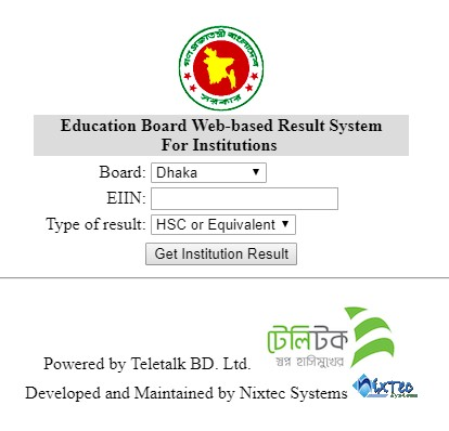 HSC Result 2018 by EIIN