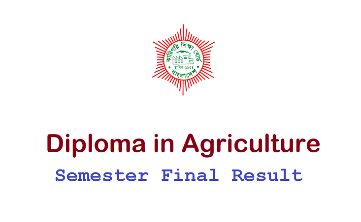 Diploma in Agriculture Semester Final Result