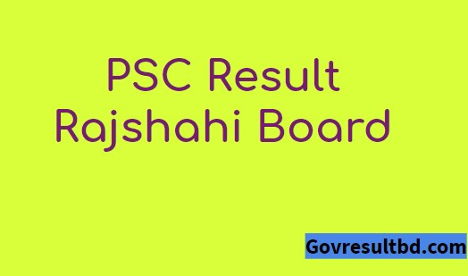 PSC Result 2019 Rajshahi Board