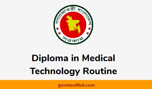 Diploma in Medical Technology Routine