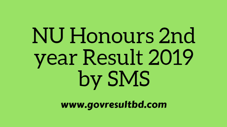NU Honours 2nd year Result 2019 by SMS