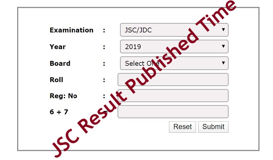 JSC Result Published Time
