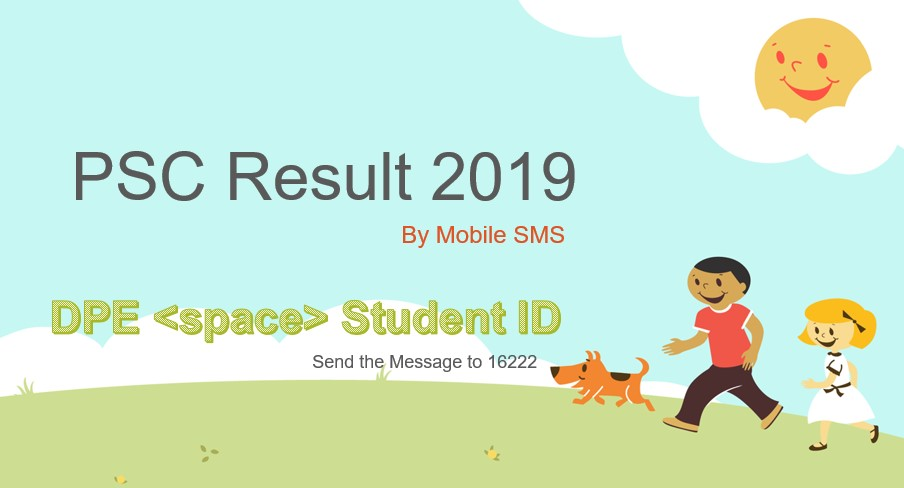 PSC Result 2019 by SMS with Student ID Number