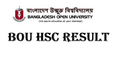 BOU HSC Result 2020