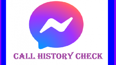 Messenger Call History Check