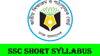 SSC Short Syllabus