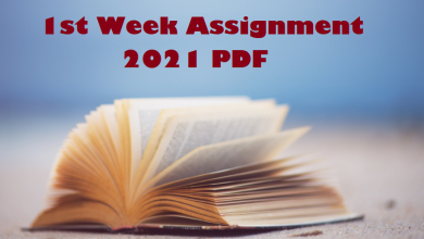 1st Week Assignment 2021 PDF