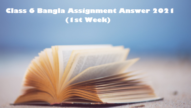 Class 6 Bangla Assignment Answer 2021 (1st Week)
