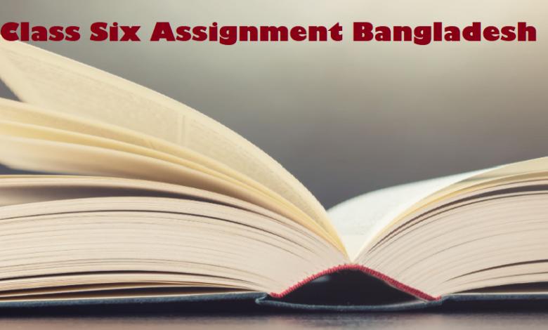 Class Six Assignment Bangladesh